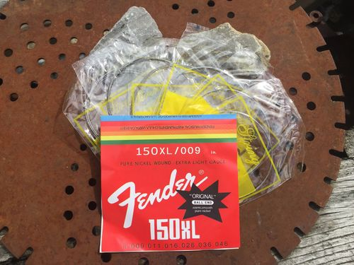 string set, 6 pieces, silver, Fender