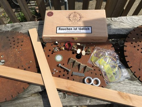 DIY- Cigarbox-Kit, 3 Saiten